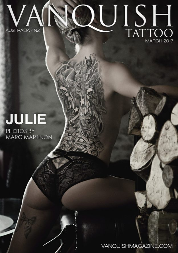 Vanquish Tattoo Magazine – March 2017 – Julie