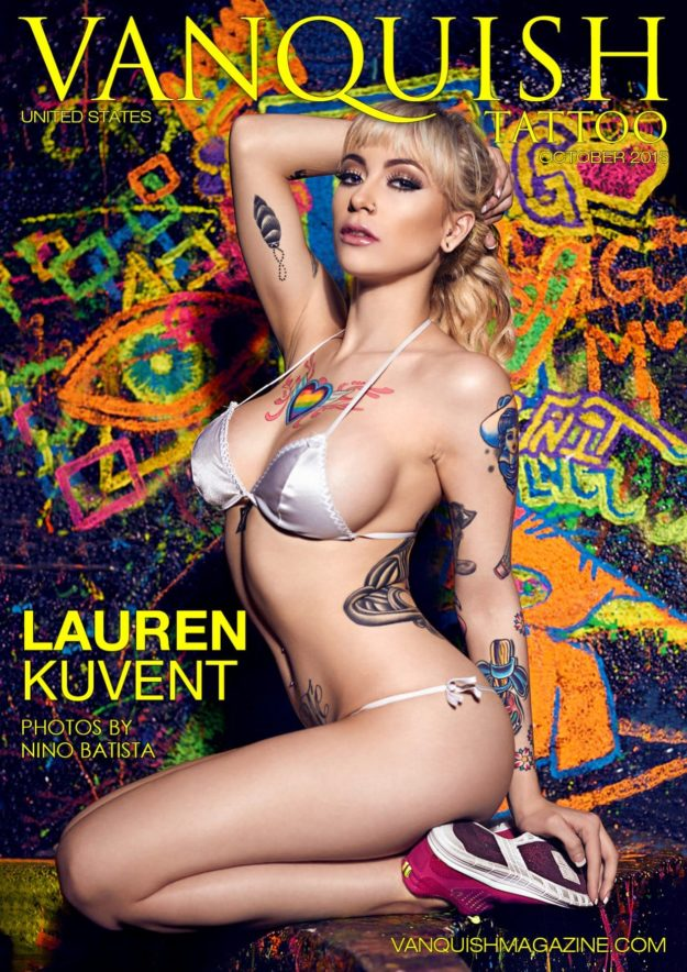 Vanquish Tattoo Magazine – October 2015 – Lauren Kuvent