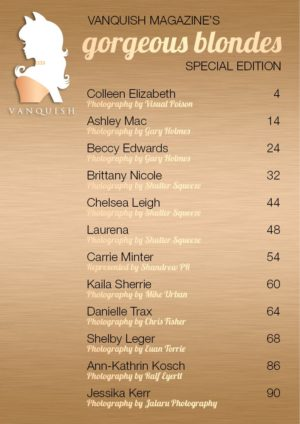 Vanquish Magazine – Gorgeous Blondes – Shelby Leger – Issue 3