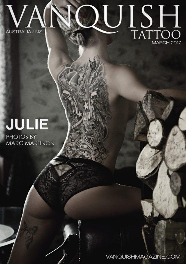 Vanquish Tattoo Magazine – March 2017 – Julie